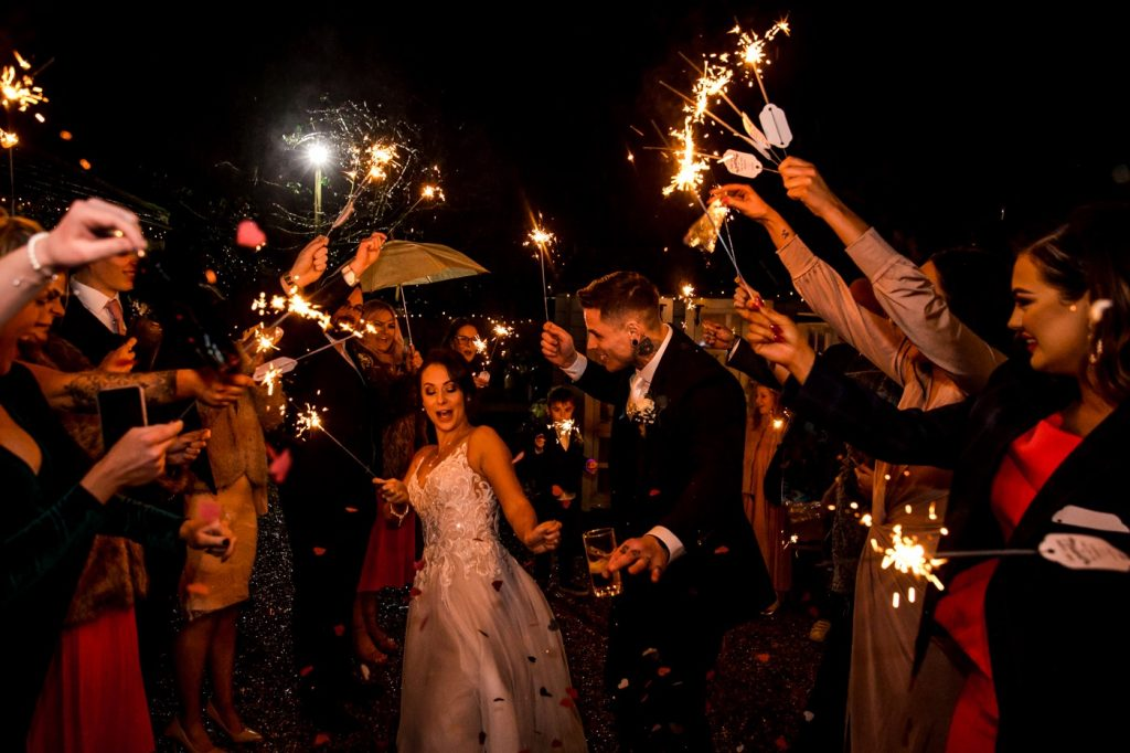 sparklers for a wedding