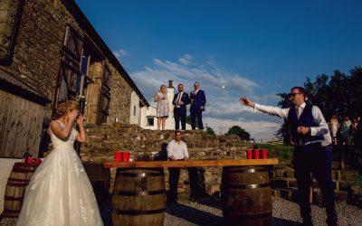 Knipe Hall Wedding // Beer Pong!