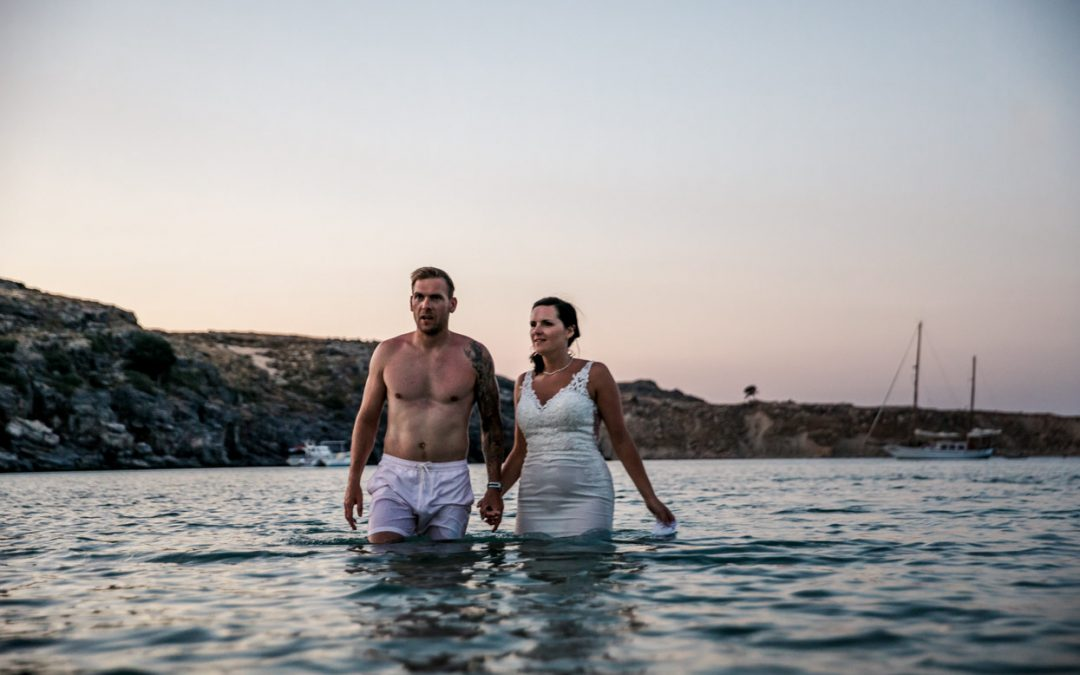 Rhodes Wedding Photographer // Lindos Wedding at St Pauls Bay
