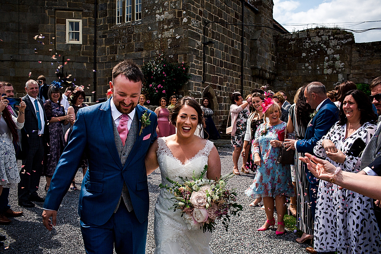 Danby castle wedding confetti throw